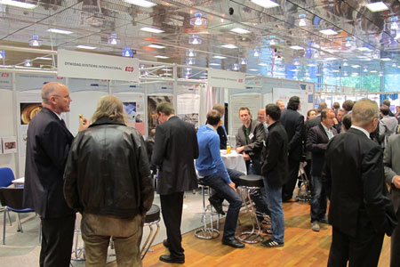 Busy exhibition stands in Salzburg