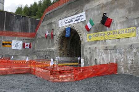 Portal of the 5,774m safety tunnel