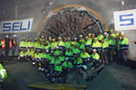 SELI crews celebrate the TBM breakthrough
