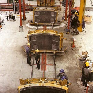 Casting of the segments for the UK tunnel headings