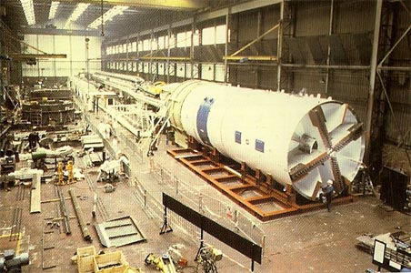 Howden TBM in manufacture for the UK Service Tunnel heading