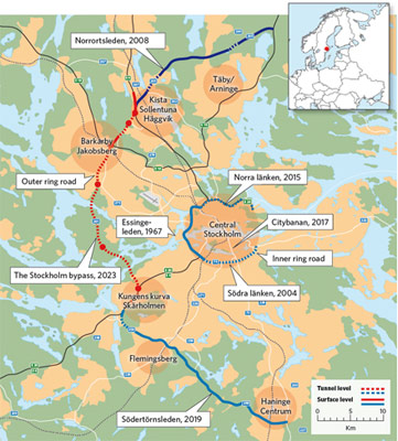 Transport projects in and around Stockholm