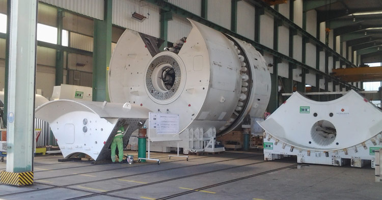 TBMs under construction for the Green Line