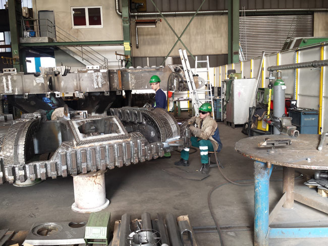 Cutterhead fabrication for Green Line TBM