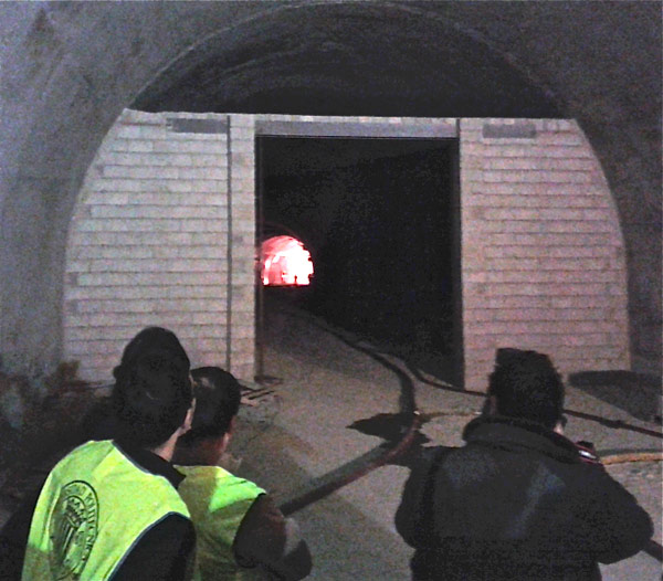 Serra Grossa tunnel fire test in Spain