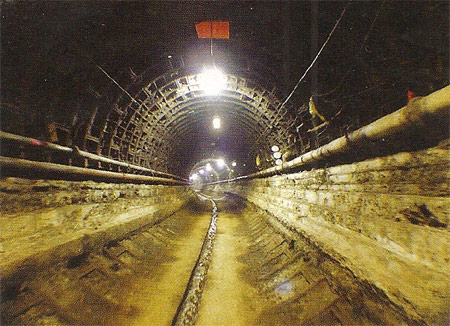 Rail tunnels stripped back to their initial cast iron lining