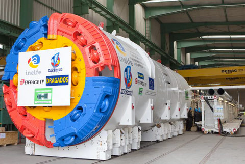 TBM Canigou, one of two 4.3m diameter machines on the INELFE project