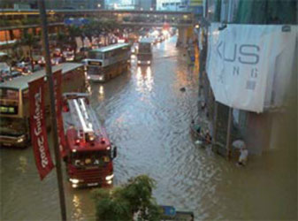 Floods on Hong Kong Island in 2005, 2006 and 2008 initiated the West Drainage Project