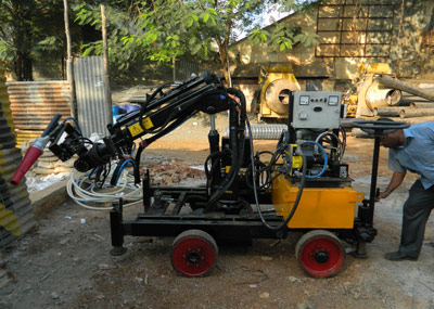 Shotcrete Technologies provided three Shot-Tech Robotic Arms and one Robotic Shotlining system