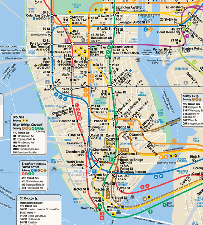 underground transportation links in and to new york city