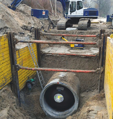 Practical application of Trelleborg pipe plug