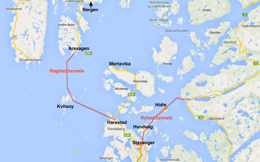 Planning For Another World Record Subsea Link TunnelTalk - Norway highway map