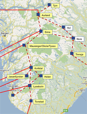 Fig 1. Key hydro projects in Norway's Green Battery plan requiring major tunnelling