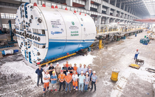One of four Robbins 6.92m TBMs for Fortaleza metro