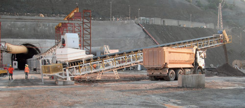 A Robbins continuous conveyor brings up the rear