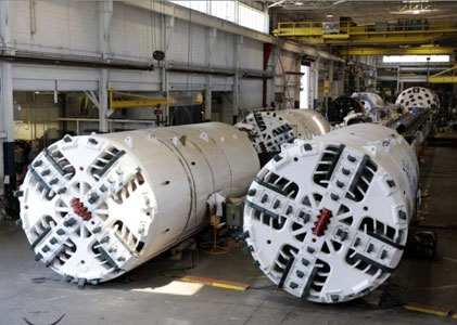 TBMs at Caterpillar's manufacturing facility in Toronto