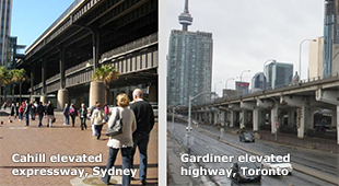 Cities divided by elevated highways