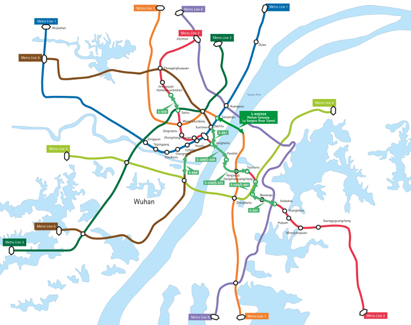 Wuhan China Subway Map.Mega Tbms For China Double Deck Link