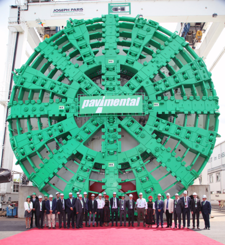 Gigantic proportions of the 15.87m Santa Lucia TBM