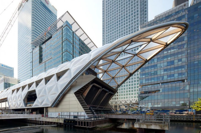 Canary Wharf Station completed last month