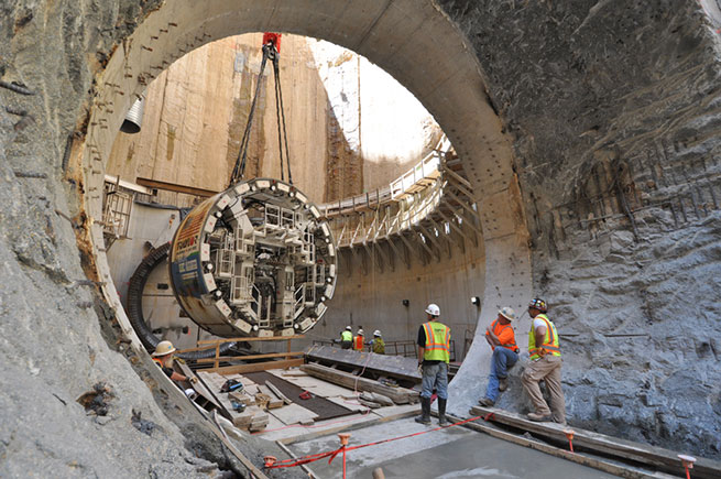 Starter tunnel for Blue Plains Tunnel TBM launch