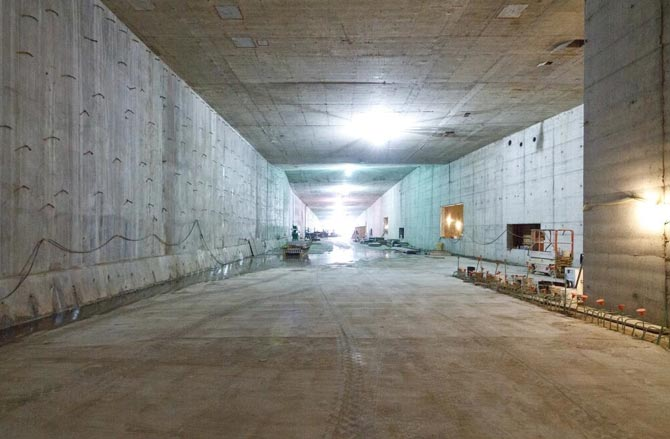 TBM downtime has enabled work on internal tunnel structures