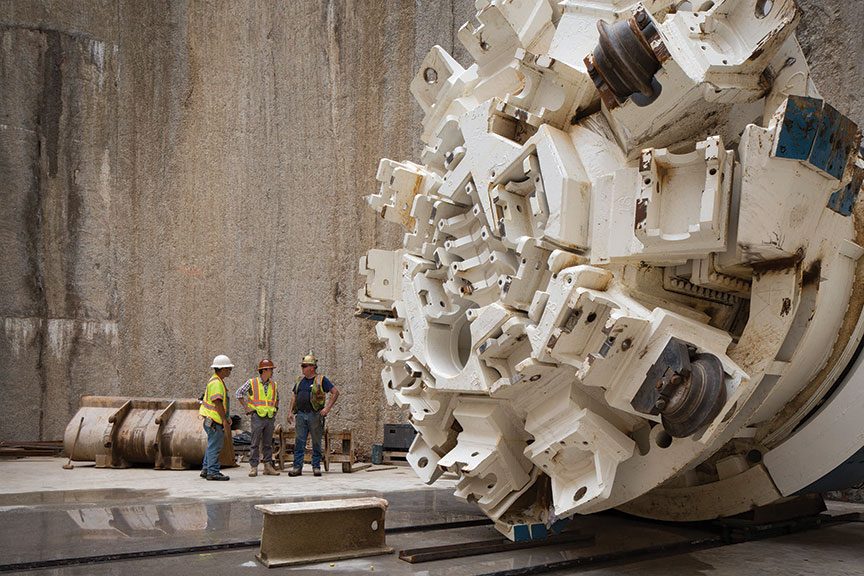 4m Main Beam Robbins TBM in the launch shaft