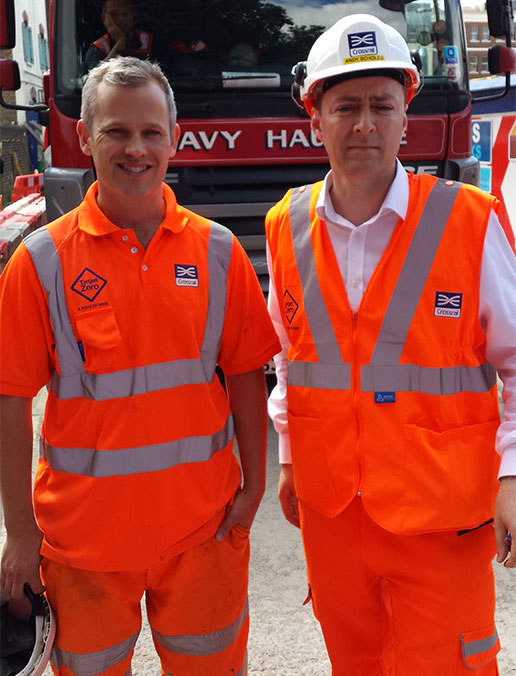 Roger Mears, Eastern Tunnelling Project Manager (left) and Andy Scholes, Eastern Ticket Hall Site Manager