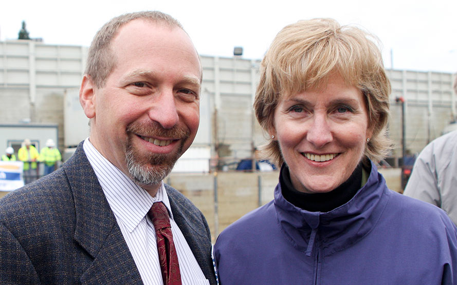 Peter Rogoff and outgoing CEO Joni Earl