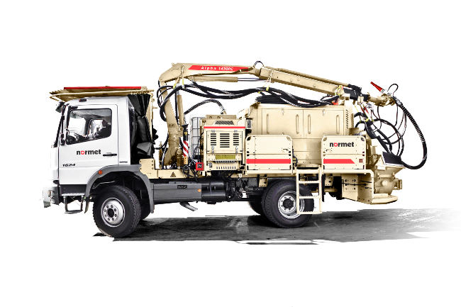 Alpha 1430 concrete sprayer fits wide range of commercial vehicles