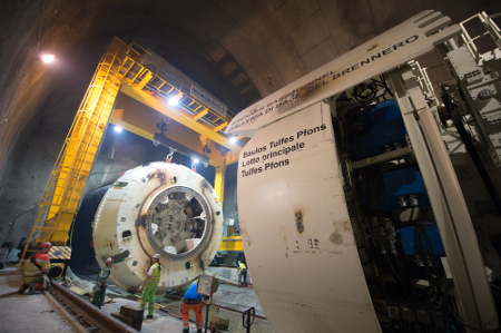 TBM assembly for theTulfes-Pfons Lot