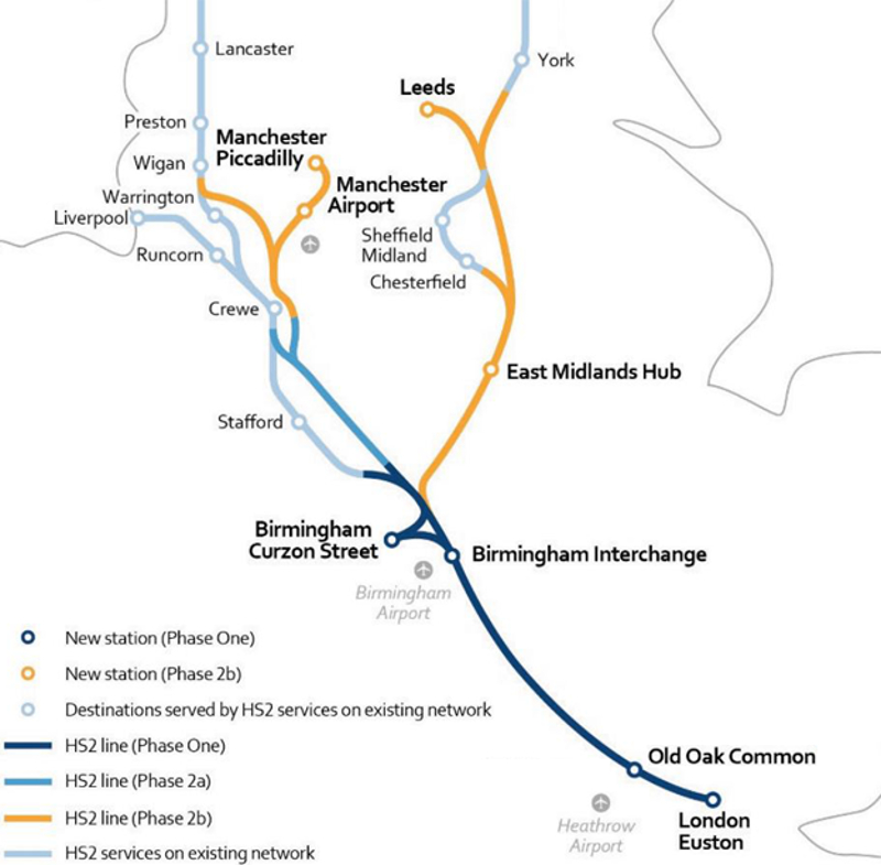 HS2 Phase 2 Route Confirmed And Phase 1 Works Begin