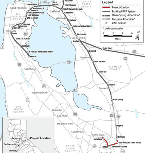 Fig 2. BART Silicon Valley Extension