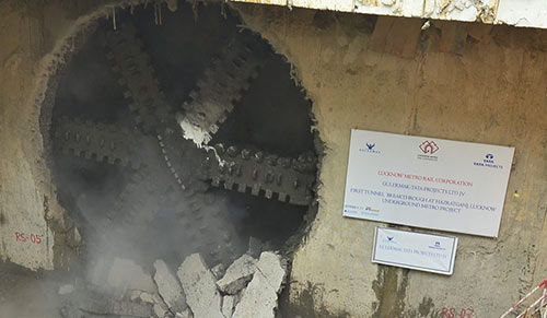 First TBM breakthrough at Lucknow metro