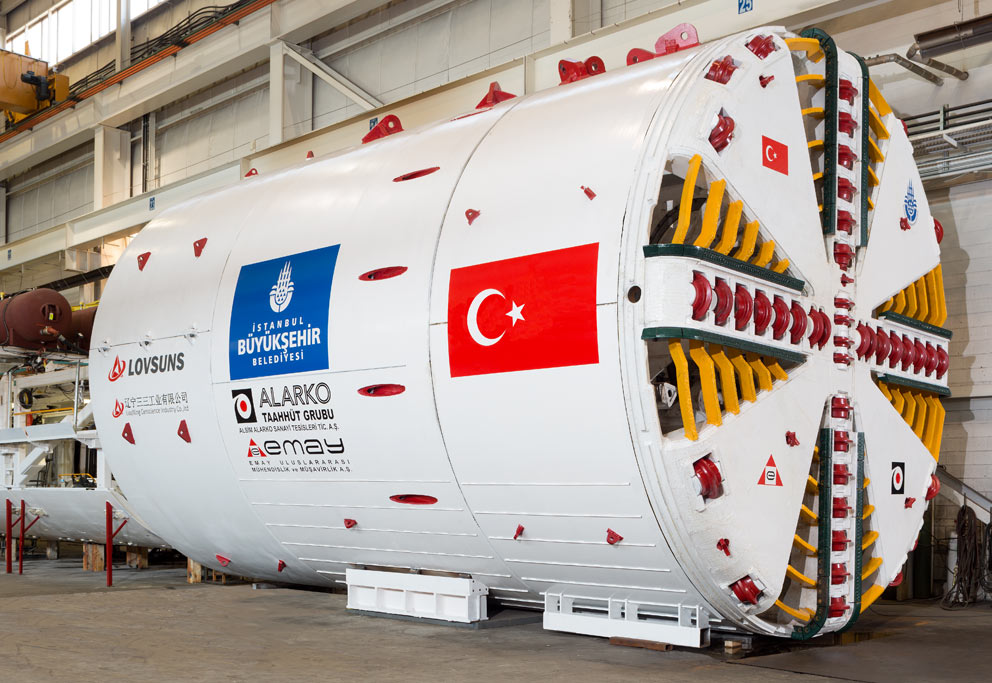 One of four TBMs for the Alarko-Cengiz JV