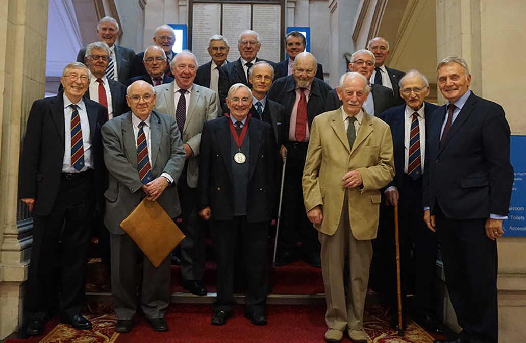 Group of Medal recipients at the 2017 lunch <br>     (Click on the photo to match faces with names)
