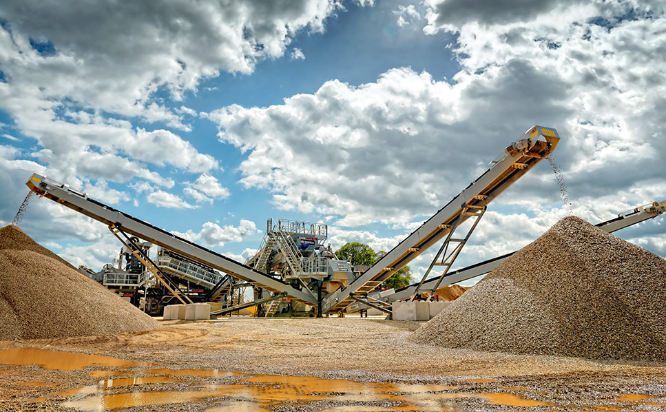 Terex sand and gravel processing plant