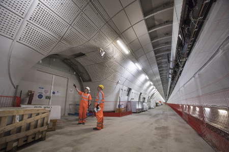 Finalising fitout of Crossrail ahead of grand opening in December 2018