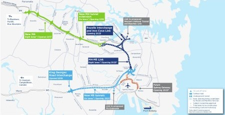 Fig 2. Full scope of the WestConnex project