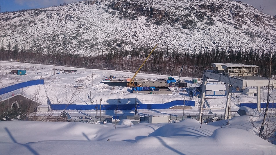 Construction site of the Baikal Tunnel parallel drive