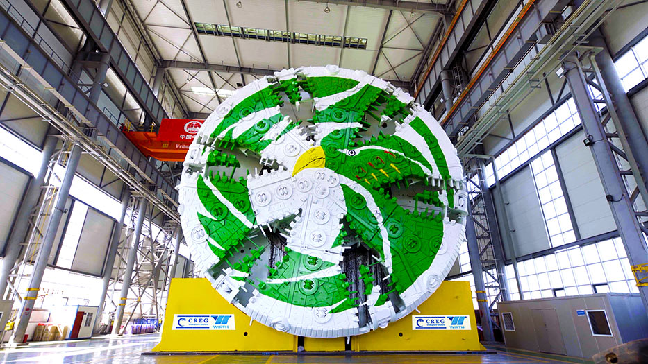 15.8m mega slurry TBM ready for dispatch to the Shenzhen city