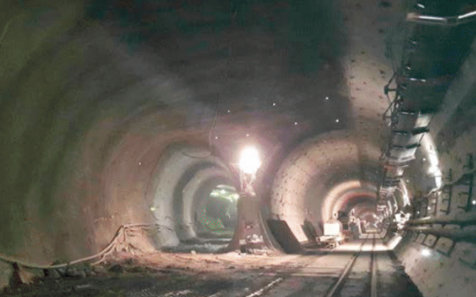 Logistic cavern with southern access to emergency stop tunnel, Koralm Tunnel, Austria