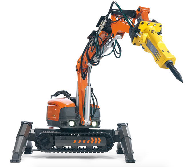 A dust reduction accessory is available for Husqvarna DXR robots