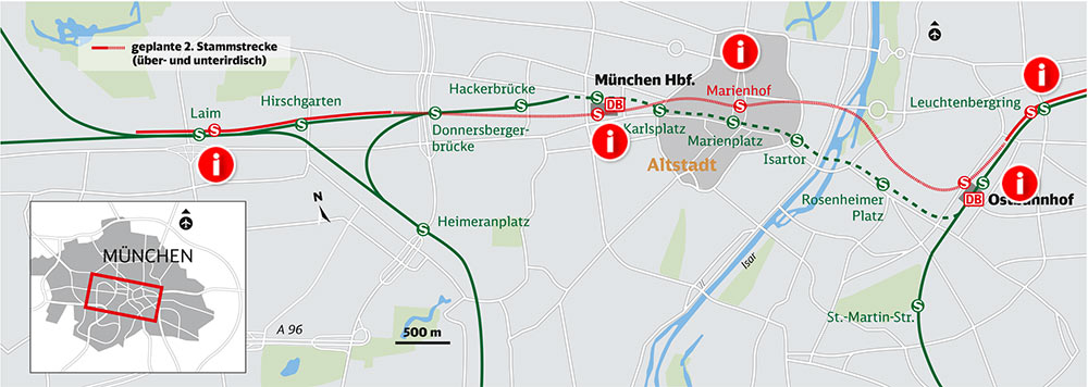 Second S-Bahn route under Munich city centre