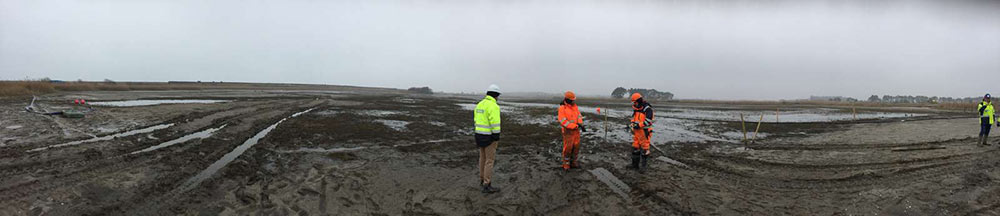 Inspection of seabed near future Rødbyhavn construction site
