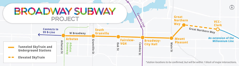 The Broadway Subway is an extension of the SkyTrain Millennium Line