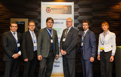 Members of the TAC committee (from left) Rick Lovat, President Elect; Conference Technical Chair, Marc-Antoine Beaupré; Conference Chair, Andre Rancourt; President Rick Staples; Conference Treasurer Marco Quirion; and Social Chair, Mylène Sansoucy
