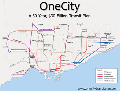 Ambitious public transit plan for Toronto over the next 30 years